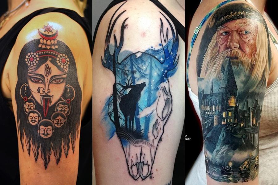 tatuagens no braço coloridas grandes