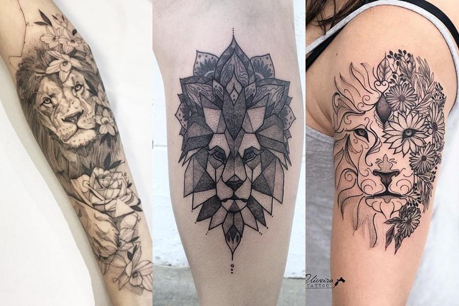 tatuagens femininas de leao