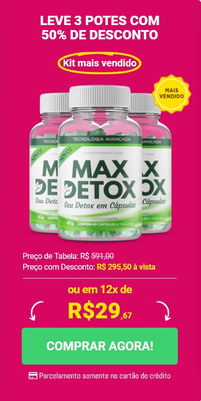 kit preço max detox com 3 potes