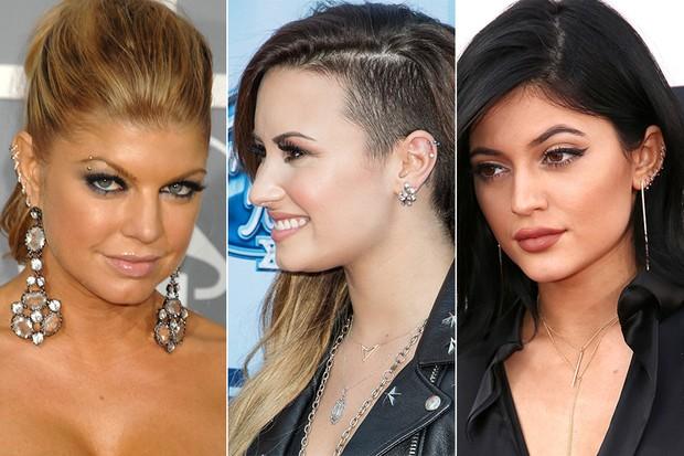 piercing orelha nas celebridades
