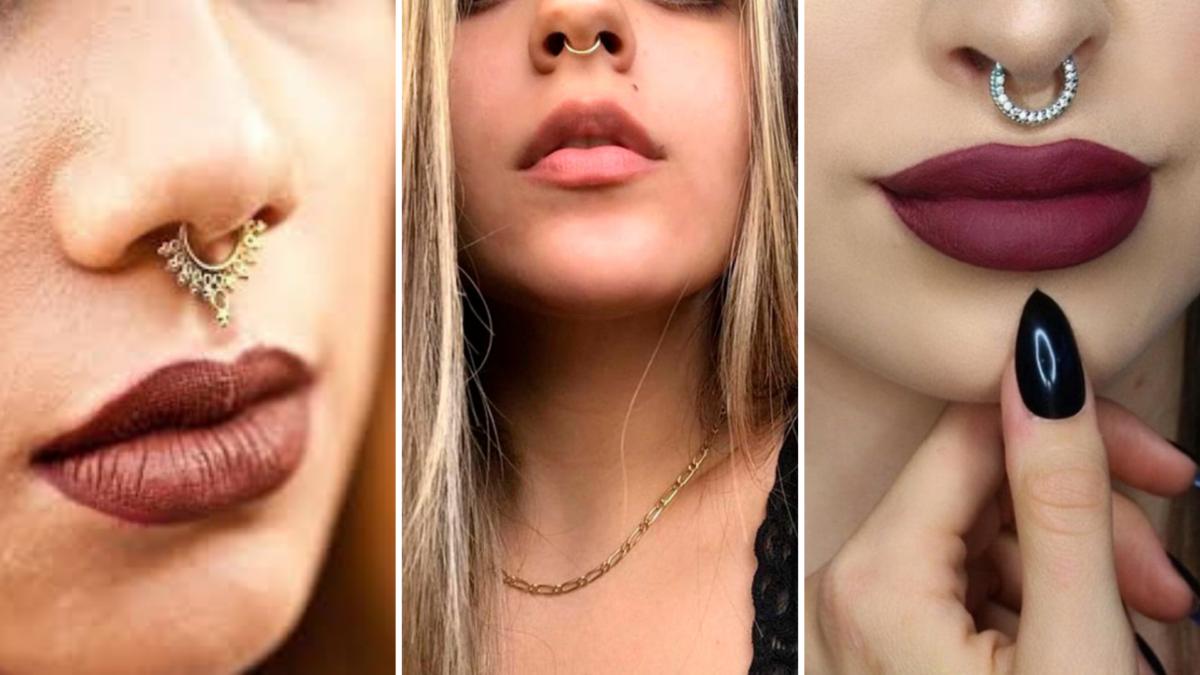 piercing no septo meninas