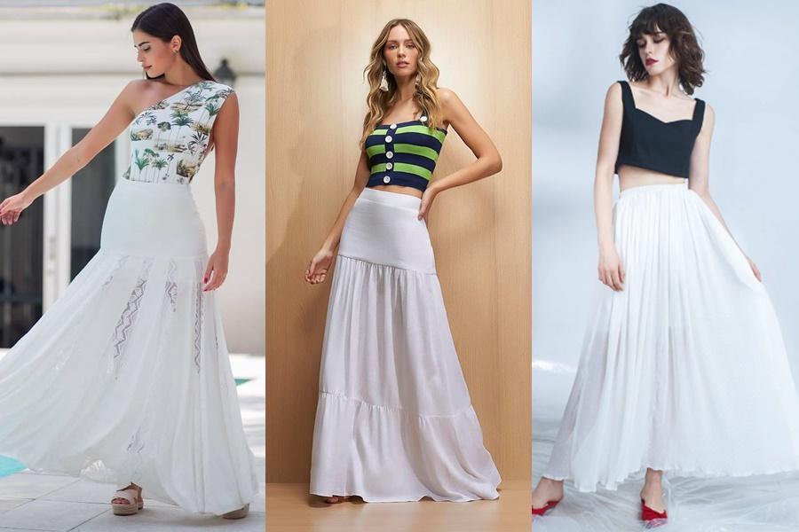 mulheres vestindo saias brancas