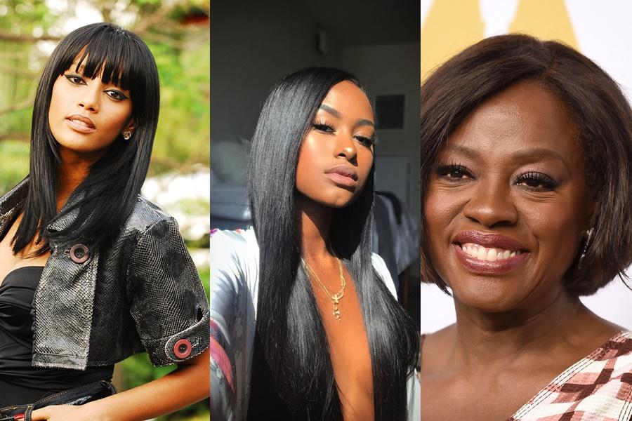 inspirações para cabelo afro alisado