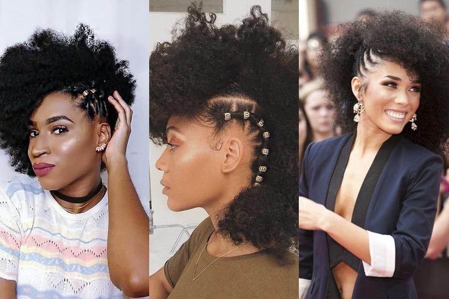 fotos de mulheres que prenderam o cabelo de lado