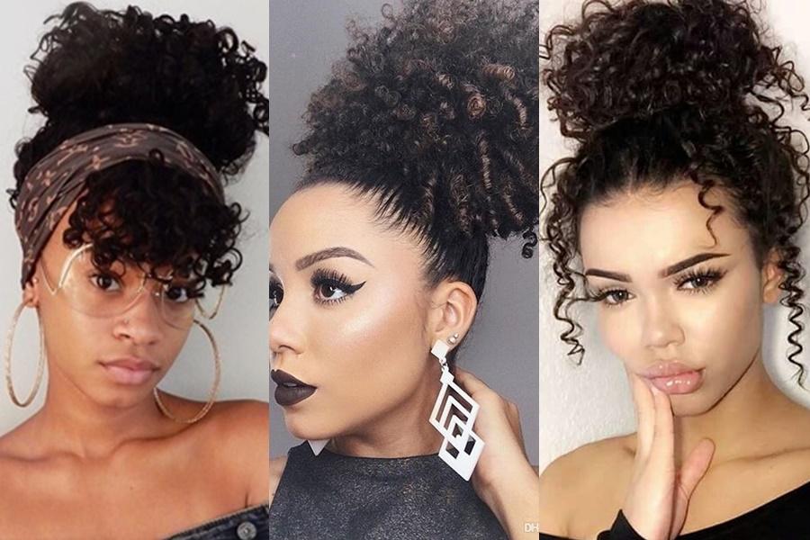 coque puff para cabelo afro