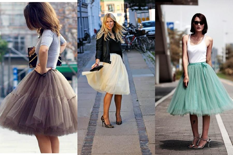 3 tipos de saia de tule colorida