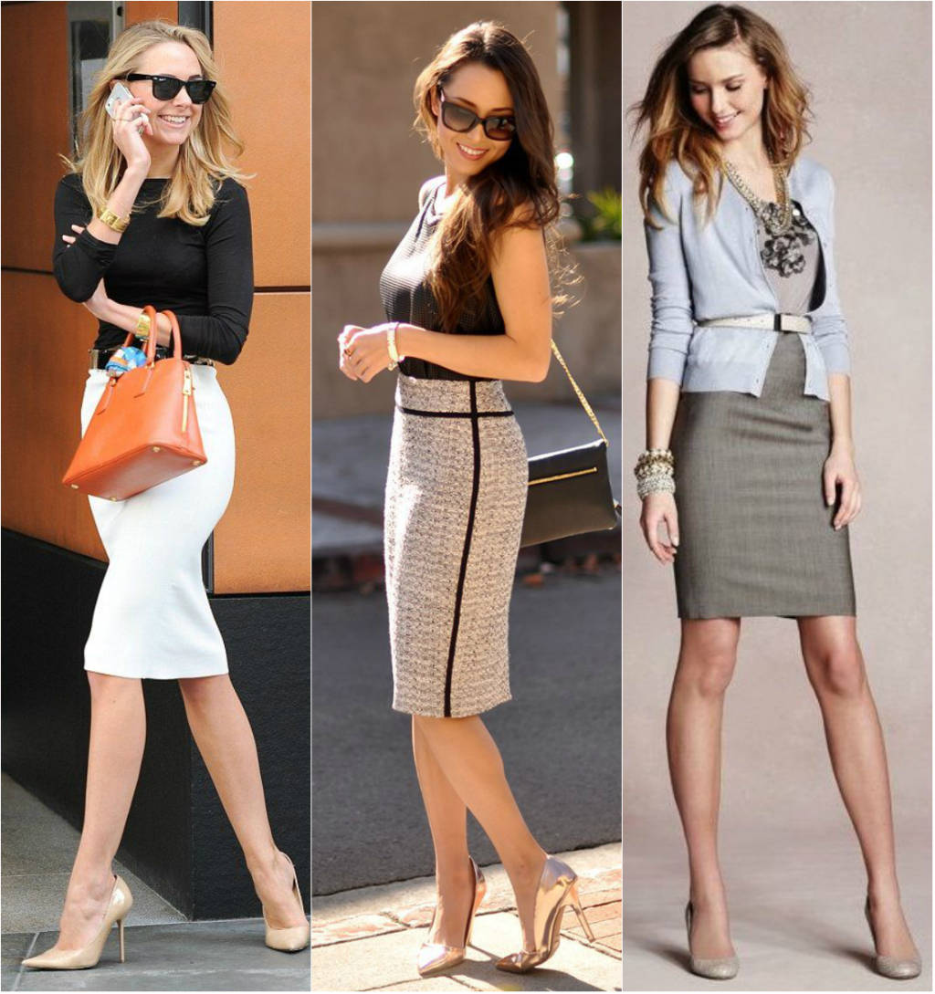 mulheres vestindo saia lápis mais sofisticadas