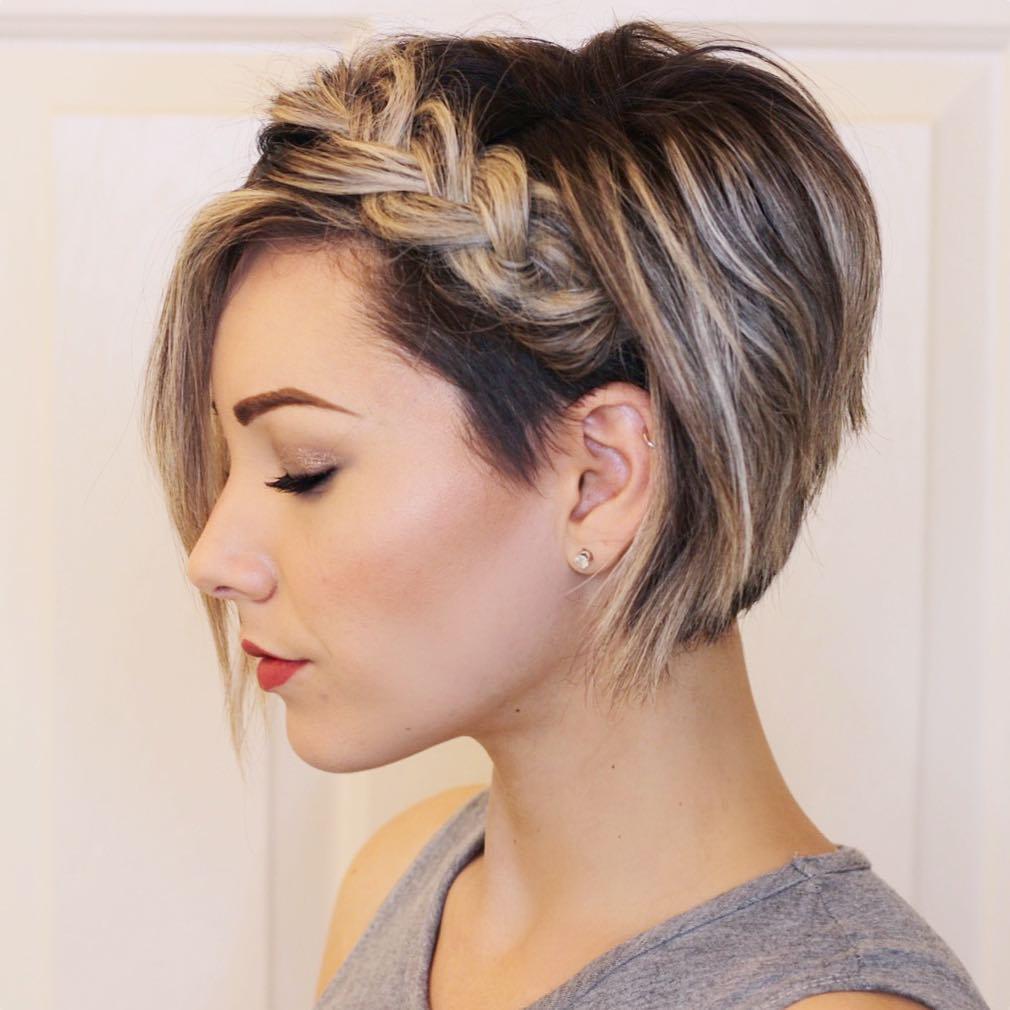trança embutida em cabelo curto