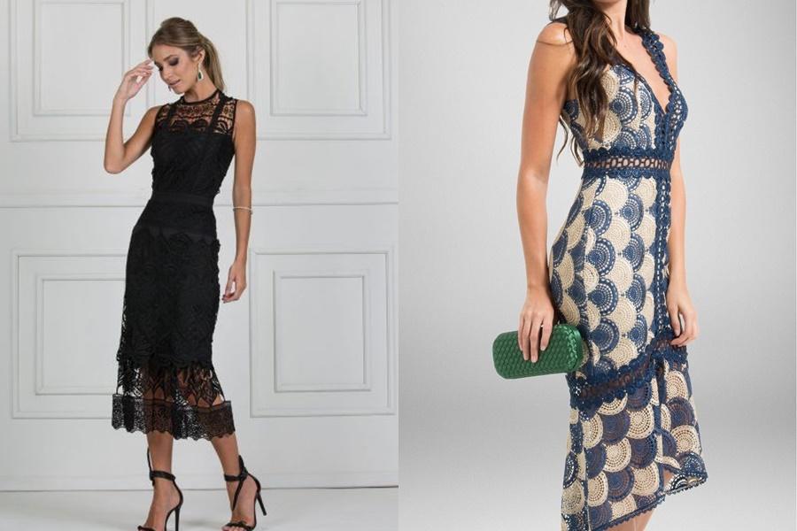 modelos de vestidos de crochê mais formais