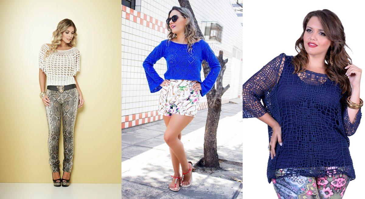 modelos de blusa de crochê