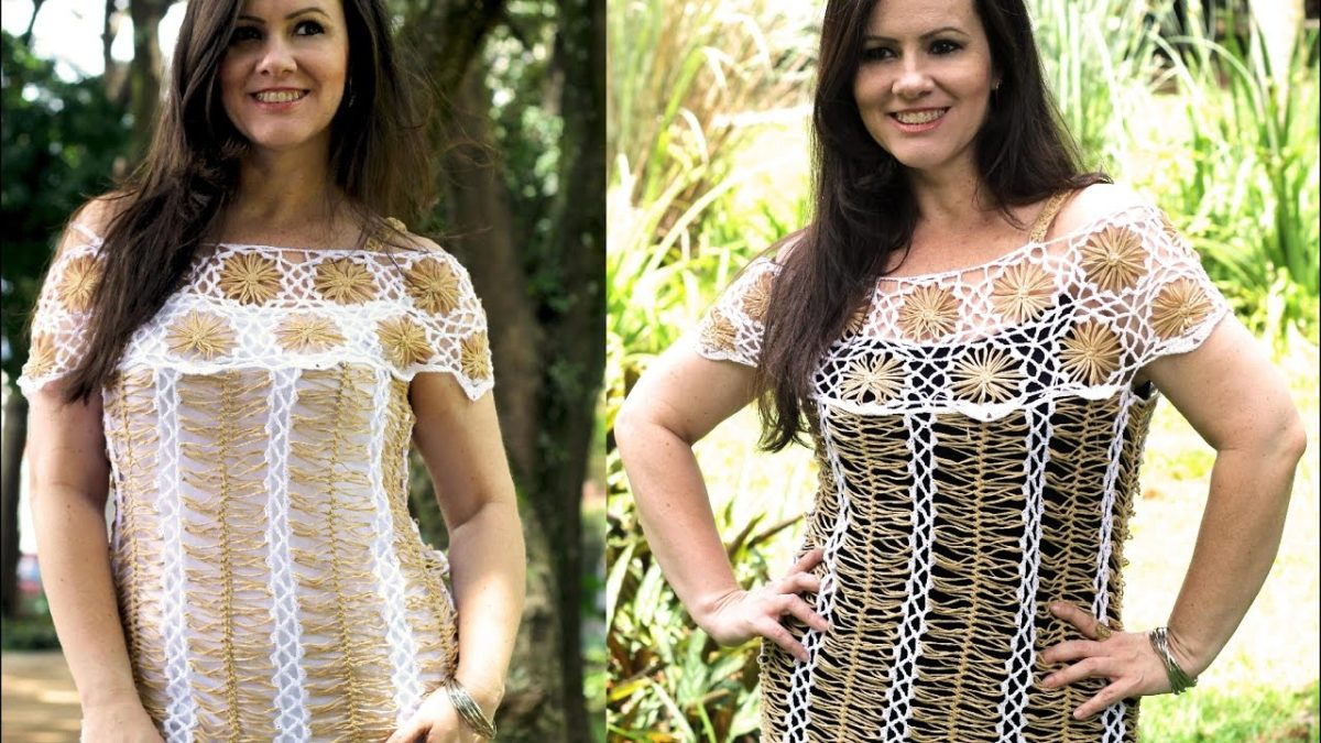 modelos de blusa de crochê de grampo
