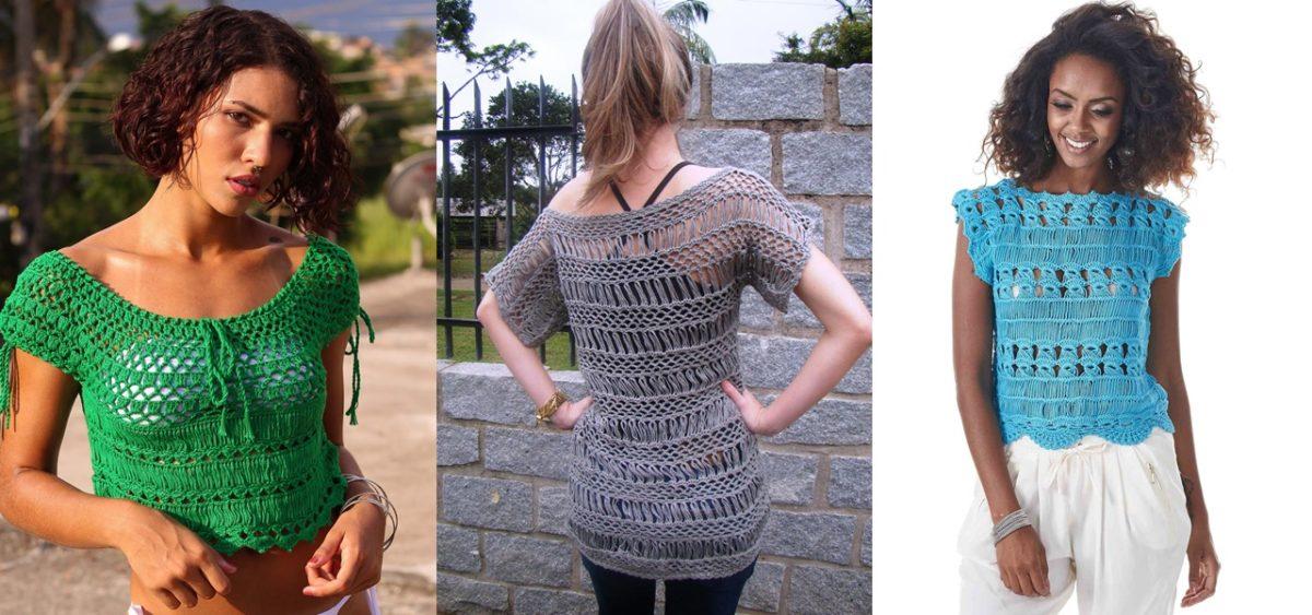 blusa crochê peruano