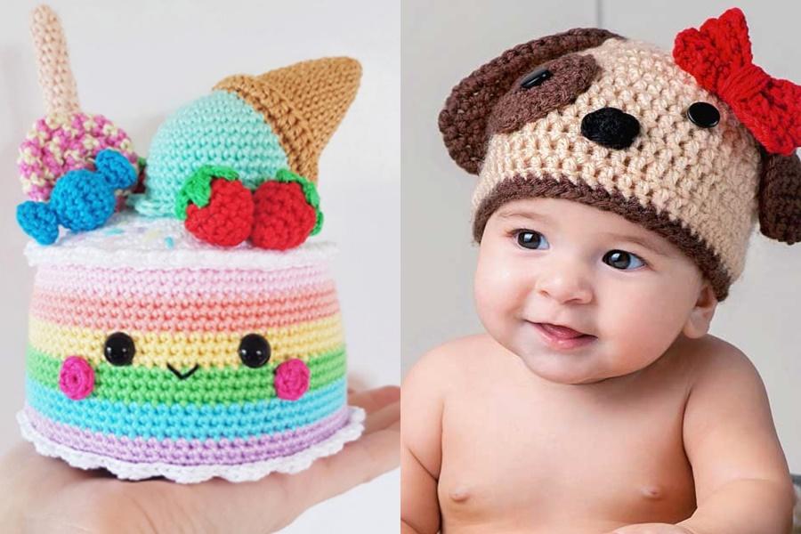 exemplos de produtos feito com crochê