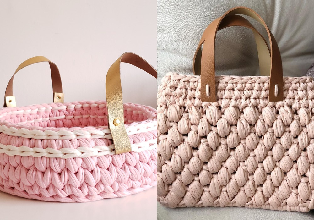 bolsas feito de crochê moderno