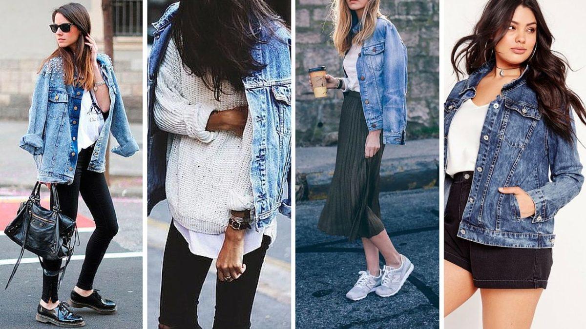 exemplos de como usar jaqueta jeans