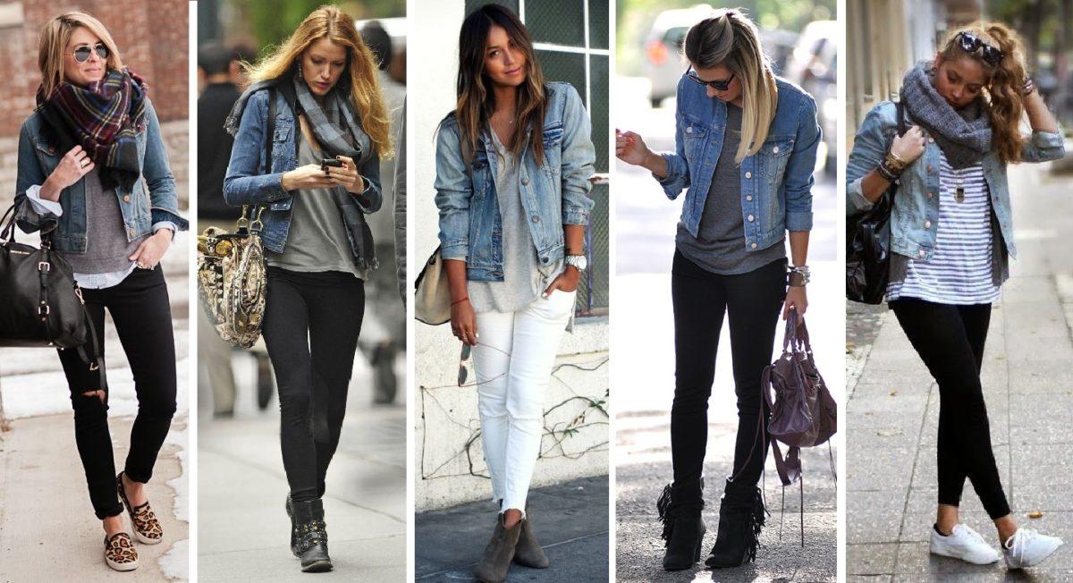 looks com jaqueta jeans para dias mais frios
