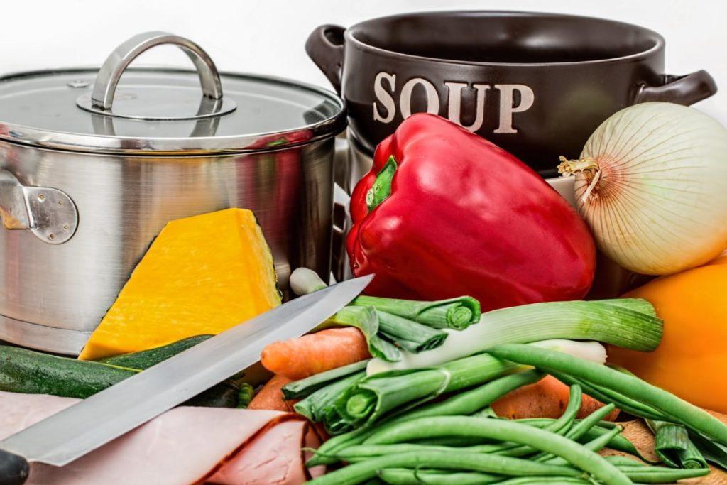 sopa de legumes low carb