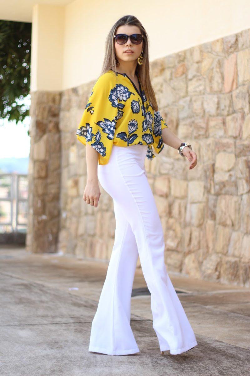 Paloma soares veste calça branca