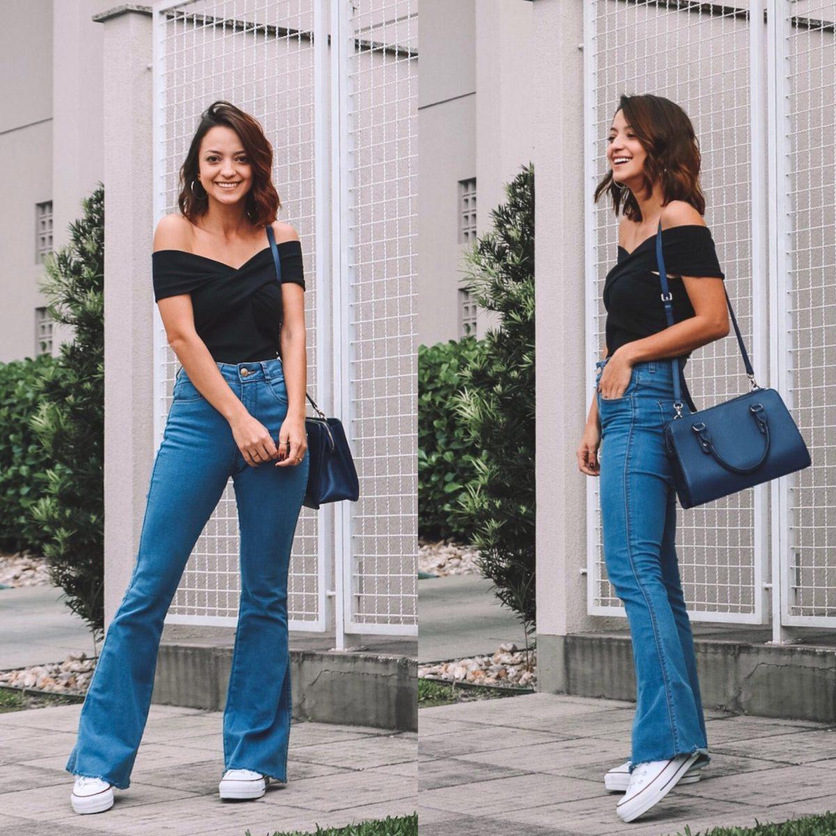 Paula Salvador veste calça e tênis