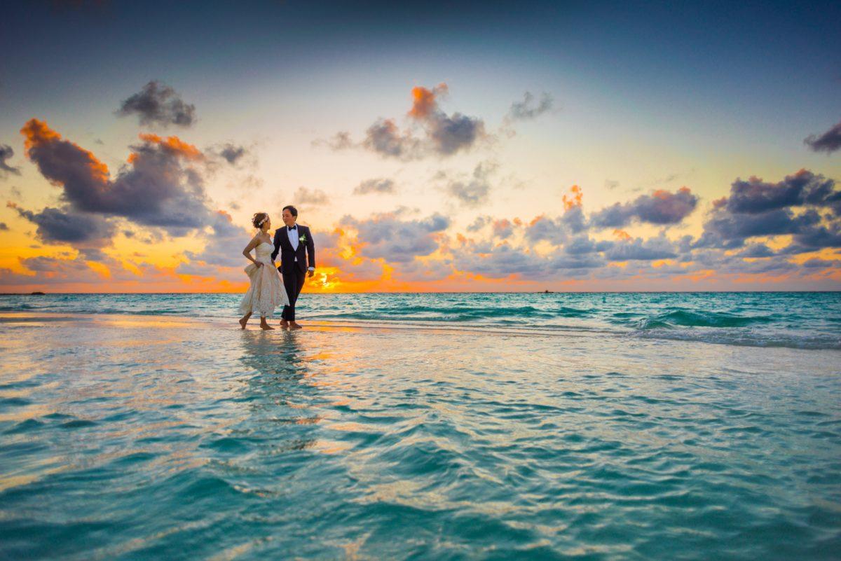 fotos de casal no mar