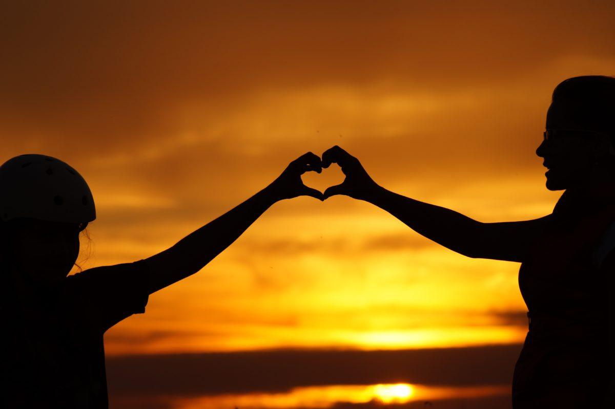 foto de amor por do sol