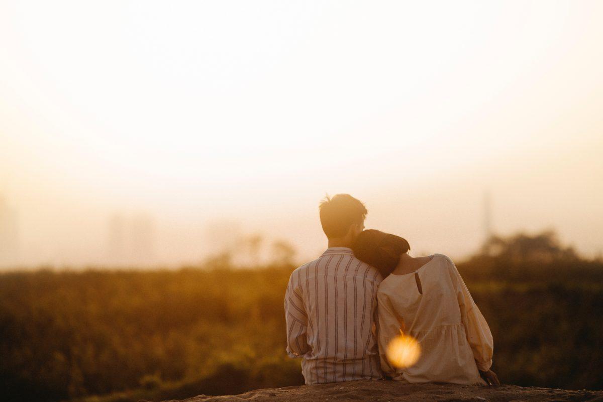foto de amor no campo