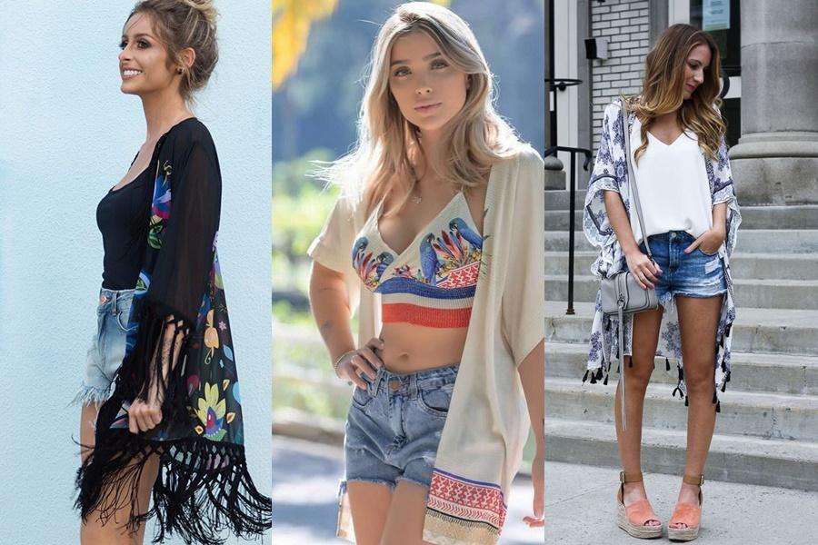 kimono para o verão