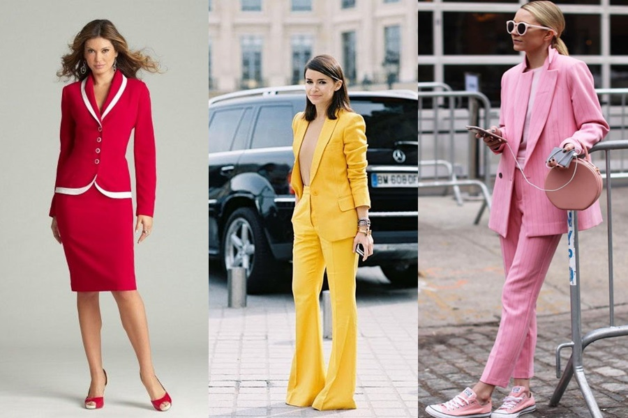 mulheres vestindo terninhos coloridos
